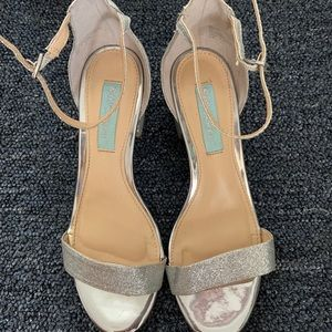 Silver Sparkly Betsey Johnson heels